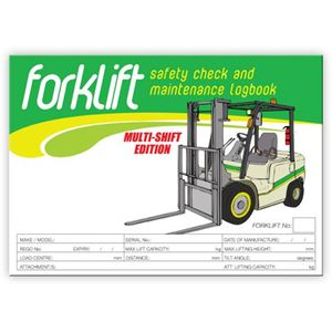 Picture of Forklift MULTI SHIFT Safety Check Logbook