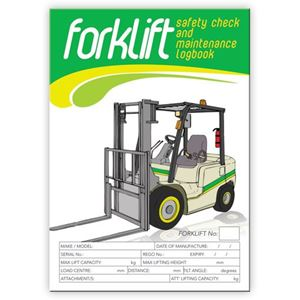 Picture of Forklift SINGLE SHIFT Safety Check Logbook