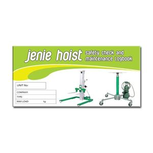 Picture of Jenie Hoist Safety Check Logbook