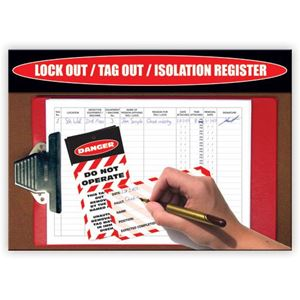 Picture of Lock Out / Tag Out / Isolation Register