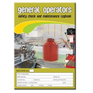 Picture of Operators General Safety Check Logbook