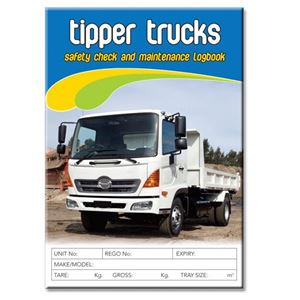 Picture of Tipper Truck DUPLICATE Safety Check Logbook