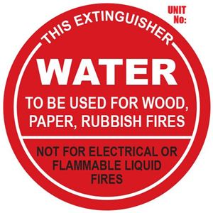 Picture of Water Extinguisher Sign