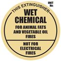 Picture of Wet Chemical Extinguisher Sign