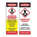 Picture of Asbestos Warning Stickers x12