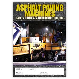 Picture of Asphalt Paving Machine Safety Check Logbook