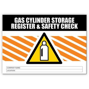 Picture of Gas Cylinder Storage Register & Safety Check