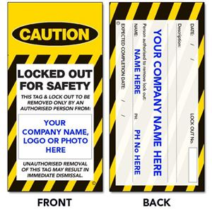 Picture of Lock Out Tags - PERSONALIZED Style 4
